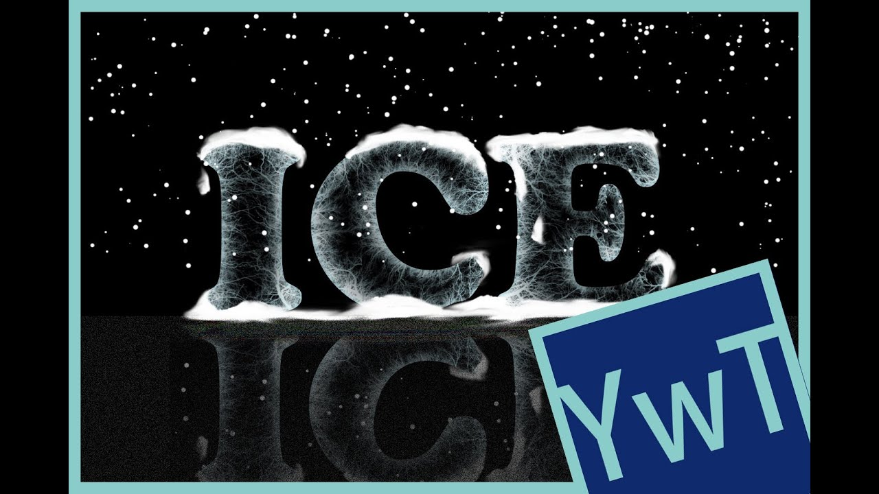 Frost Photoshop Tutorial Photoshop Tutorial Ice Text