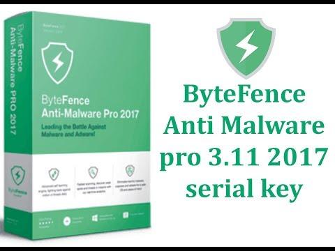 Serial bytefence anti-malware 2019
