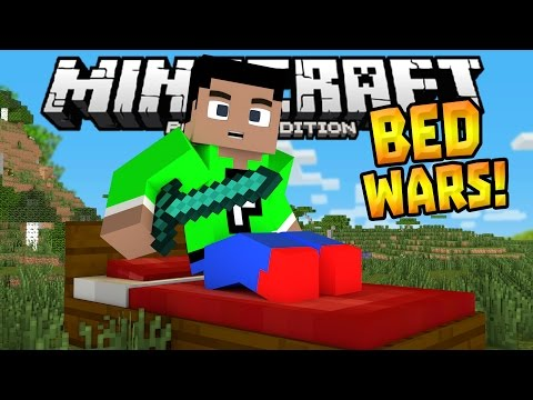 BED WARS MINIGAME in 0.14.1!!! - MCPE MiniBox Server - Minecraft PE (Pocket Edition)