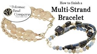 How to Finish a Multi Strand Bracelet