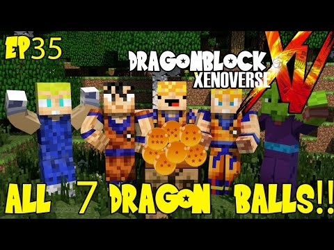 Dragon Block Xenoverse: All 7 Dragon Balls! What to Wish For? (Dragon Ball Z Minecraft Ep 35)
