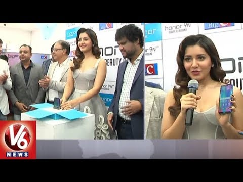 Actress Rashi Khanna Launches Honor 9N Smart Phone At Kukatpally Big C | V6 News