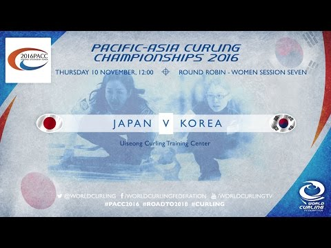 Japan v Korea (Women) - Pacific-Asia Curling Championships 2016