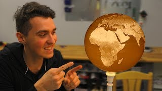 HUGE 3D Printed Spherical Lithophane Globe - 100H PRINT!!!