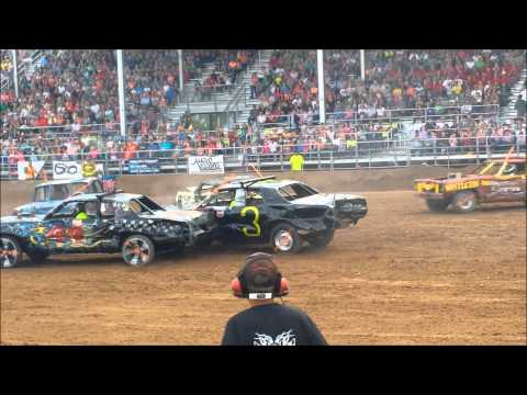 Demolition Derby Nephi Utah 2013, ending first, car parks on top of me!  One of the best days of my