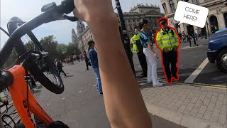 DOING 12 O'CLOCK WHEELIES PAST THE POLICE!!