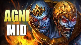 SMITE Conquest: Agni Mid Gameplay | The MastStep!