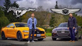 2019 Genesis G70 3.3t vs Ford Mustang GT // Grow Up or Bro Down?