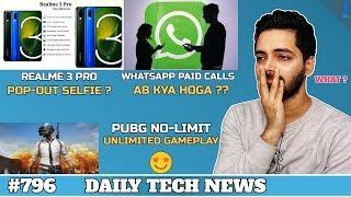 Realme 3 Pro Specs & Design,Mi MIX 4,WhatsApp Paid Calls India,Public WiFi Threat India,A70-#796