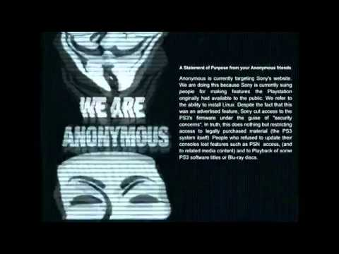 Ps3/PSN Servers Down : Hacked By Anonymous : Official Anonymous Message [ Explained ]