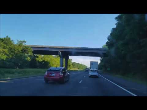 4K Driving From Virginia to North Carolina Timelapse on the i95 Intersate 95