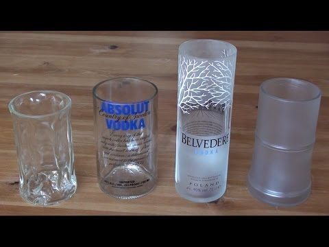 How to make a recycled drinking glass from a vodka bottle