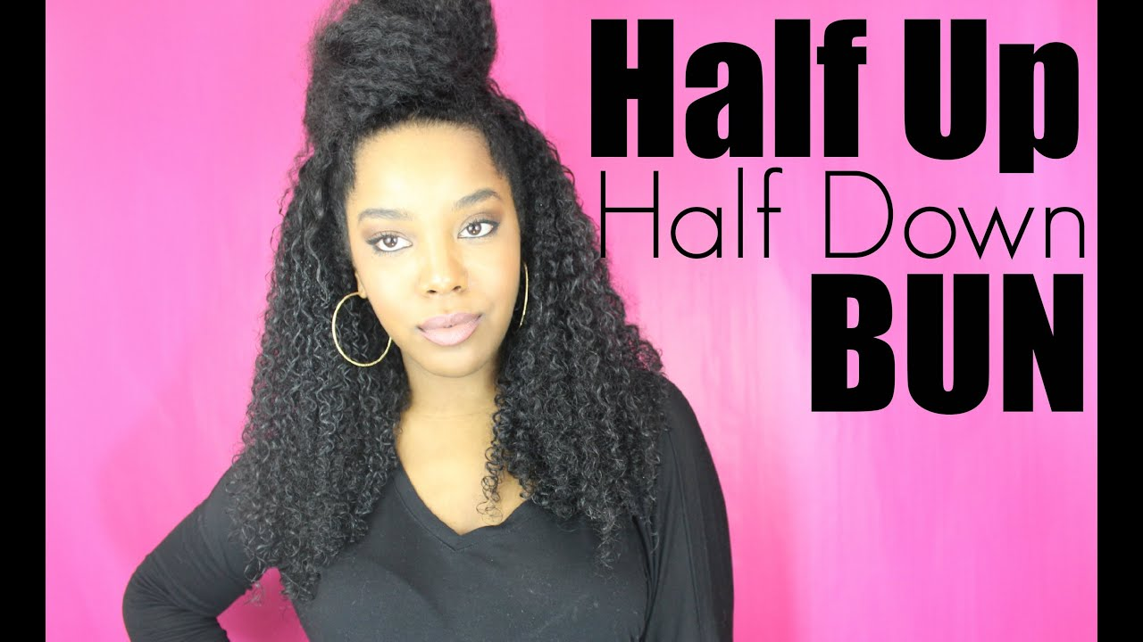 Half Bun Half Down Natural Hair Natural Hair Style Half up