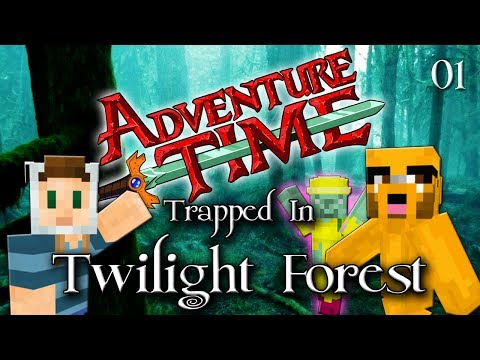 Adventure Time Minecraft : TRAPPED IN TWILIGHT FOREST Ep 01 Magic Man