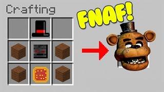 HOW TO SUMMON FNAF - MINECRAFT CRAFTING SCARY FREDDY FAZBEAR