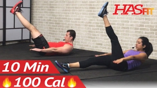 10 Min Lower Ab Workout for Women & Men - 10 Minute Ab Workout - Lower Abs Belly Fat Flattener