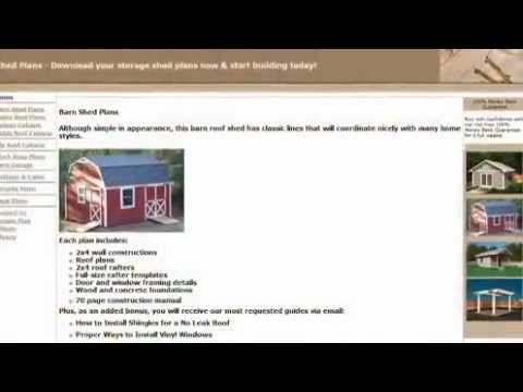 barn shed plans-how to make your own barn shed