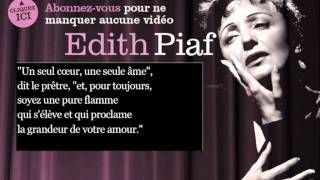 Edith Piaf - Les trois cloches - Paroles ( Lyrics )