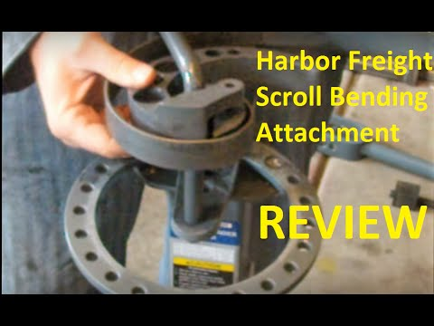 Review of Harbor Freight Scroll Bending Attachment