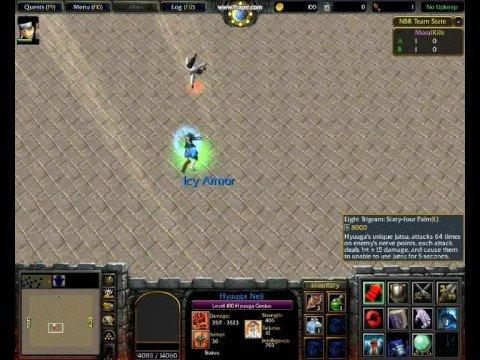 warcraft 3 naruto battle