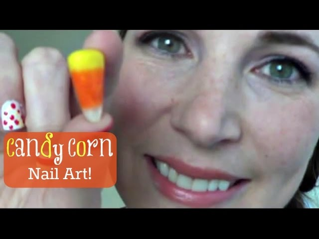 Candy Corn Nail Art | Pintober