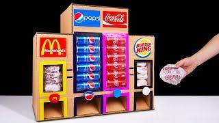 How to Make McDonald's Coca Cola Burger King and Pepsi Vending Machine