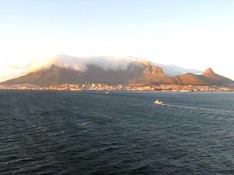 Sailing into Cape Town, South Africa