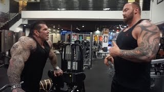 """A DAY WITH THOR """"THE MOUNTAIN"""" - 6'9 400LBS - TRAINING GOLDS - EATING BEVERLY HILLS"""
