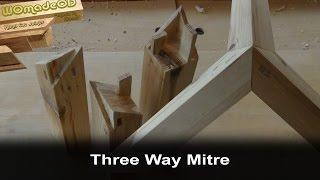 Three Way Mitre Joint or Kane Tsugi - Hand Cut