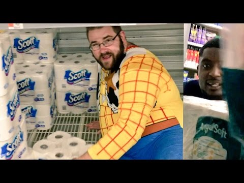 FUNNIEST TOILET PAPER FORT FAIL AT WALMART EVER!