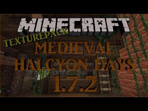 Minecraft Medieval Texture pack Halcyon Days 1.7.5 x32