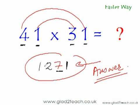 Tutorial Tentang Matematika Gratis - Cara Cepat Menghitung Perkalian Dalam 5 Detik 2.flv video