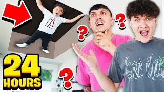 SNEAKING INTO FAZE HOUSE FOR 24 HOURS WITH MY LITTLE BROTHER...