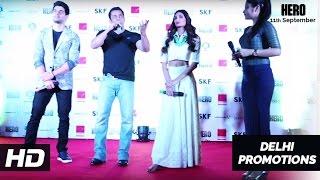 Salman Khan, Sooraj Pancholi, Athiya Shetty in Delhi | Hero Promotions