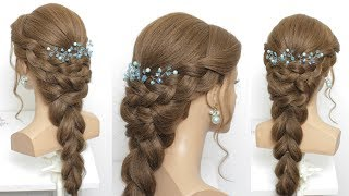 Simple Hairstyle For Indian Wedding Or Function
