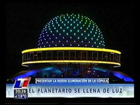Inauguracion nueva iluminacion del Planetario Buenos Aires.flv