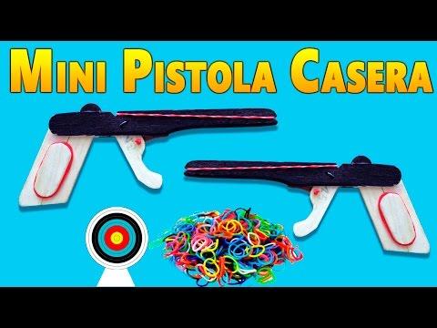 Como Hacer una Mini Pistola Casera  Dispara Ligas