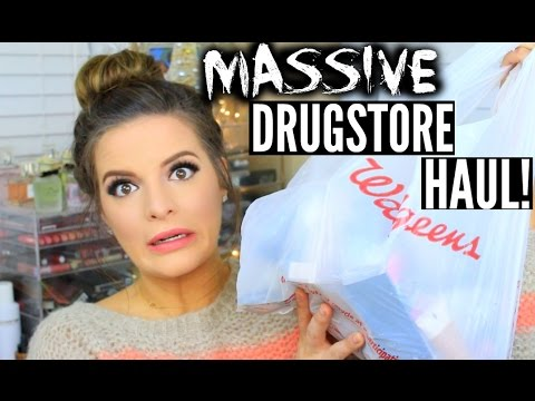 MASSIVE DRUGSTORE MAKEUP HAUL! Review & Swatches!   Casey Holmes