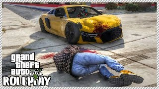 GTA 5 Roleplay - Guy Lost Control Drag Racing & Hit Me with Car | RedlineRP #40