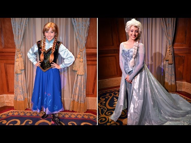 Anna and Elsa Meet & Greet - Now Visiting Individually w/ Guests at Princess Fairytale Hall - FROZEN