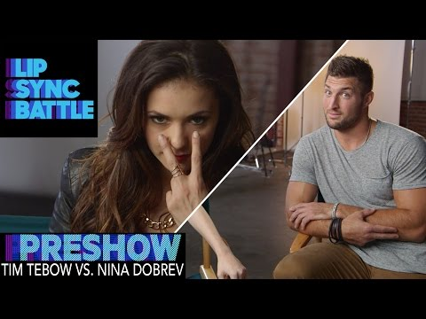 Tim Tebow vs. Nina Dobrev (Preshow) | Lip Sync Battle