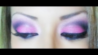 Maquillaje rosa y negro - pink and black makeup