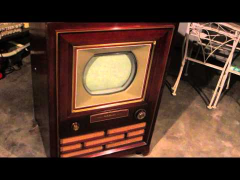 RCA 1954 Victor First Color TV CT-100 Vintage Television (Video 1)