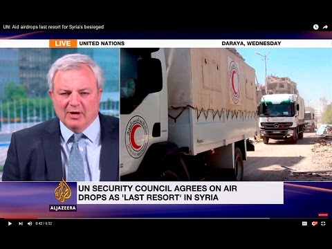 UN: Aid airdrops last resort for Syria's besieged