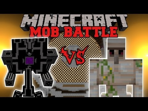 Iron Golem Vs. Robo-Gunner - Minecraft Mob Battles - Arena Battle - OreSpawn Mod