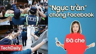 """Phụ nữ Hàn Quốc """"ngực trần"""" chống FB; Điện thoại Samsung có thiết kế giống Apple  TechDaily  TECHMAG"""
