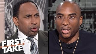 Stephen A. bonds with reformed Cowboys fan Charlamagne tha God | First Take