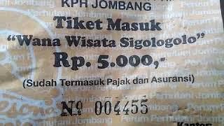 Wow tiket parkir lebih mahal dari tiket masuk.pesona wisata sigologolo wonosalam jombang jawa timur,