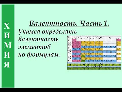Валентность. Часть 1. Учимся определять валентность элементов по формулам.
