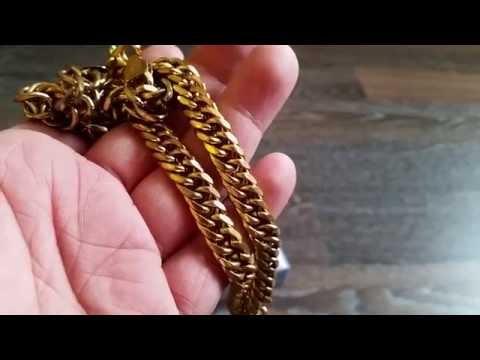 Как сделать золотую цепочку
